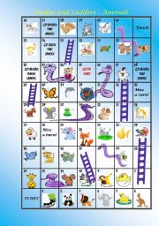 SNAKES AND LADDERS - ANIMALS