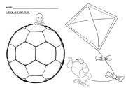English Worksheet: Kinder Ball Kite