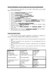 English Worksheets: WRITING REFERENCE