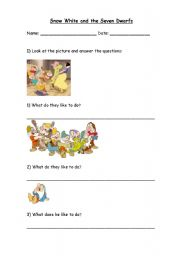 English worksheets: An Analysis of Snow White and the Seven Dwarfs ...