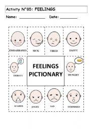 English worksheet: No 85: FEELINGS