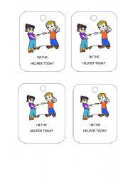 English Worksheets: helpers badges