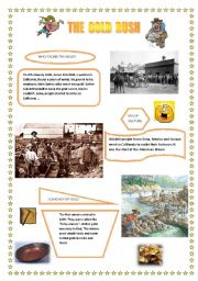English Worksheet: The Gold Rush. Part I