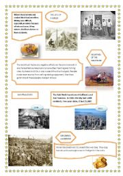 English Worksheet: The Gold Rush Part II