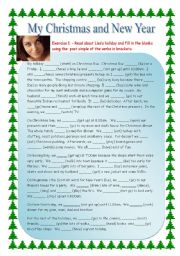 English Worksheets: Reading My Christmas and New Year
