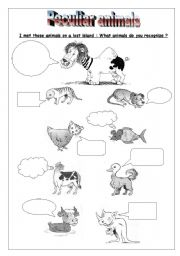 English Worksheets: Peculiar animals