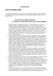 English Worksheets: Stop The Students� Presses