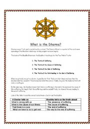 English Worksheets: What is the dharma?