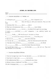 English Worksheet: Either...or & Neither...nor