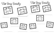 English Worksheet: Family frog