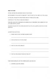 English Worksheets: Reading Comprehension II