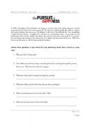 Pursuit of happyness essay movie