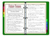 Future Tenses (Will, Be going to, Present cont, Simple Present , Fut. Perfect and Fut Contin)