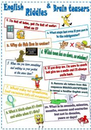 English Worksheet: English Riddles and Brain teasers (2)