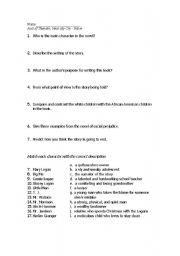 roll of thunder essay test