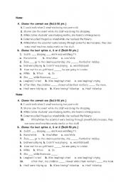 English Worksheet: end-of-lesson quiz