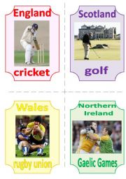 THE UK FLASHCARDS 7 - NATIONAL SPORTS