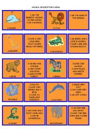 English Worksheets: SET 2. ANIMAL DESCRIPTIONS