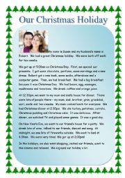 English Worksheets: Reading - My Christmas Holiday