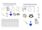 English Worksheet: diningroom
