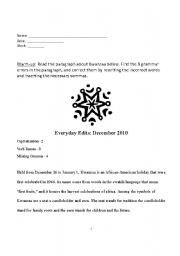 English Worksheet: Christmas in Mexico