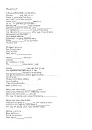 English Worksheets: Never ever song