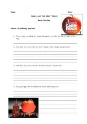 Printables James And The Giant Peach Worksheets english worksheet james and the giant peach
