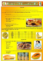 English Worksheet: A CLASS PLAN BASED ON THE �COMMUNICATIVE APPROACH� - FRUIT - PART 01