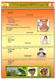 English Worksheet: A CLASS PLAN BASED ON THE �COMMUNICATIVE APPROACH� - FRUIT - PART 02