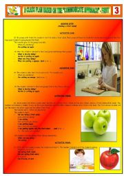 English Worksheet: A CLASS PLAN BASED ON THE �COMMUNICATIVE APPROACH� - FRUIT - PART 03
