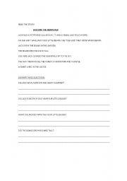 English Worksheets: Reading Comprehension III