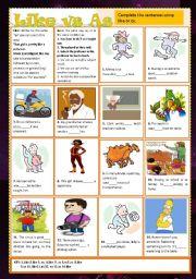 English Worksheets: like vs as +answer keys