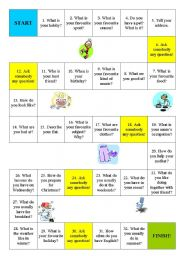 English Worksheets: Question game