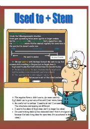 English Worksheet: Used to + Stem ( Past Habit )