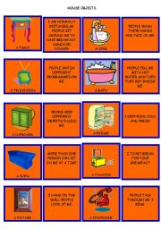 CARD SET 4. HOUSE OBJECTS. DESCRIPTION AND USAGE.