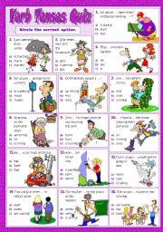 English Worksheet: VERB TENSES QUIZ