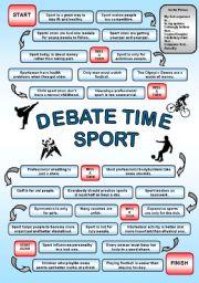 English Worksheet: Debate time SPORT