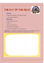 English Worksheet: The day of the dead, Mexico