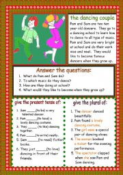 English Worksheets: the dancing couple