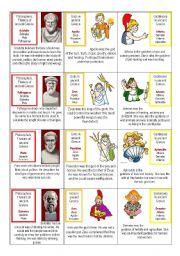 English Worksheet: Ancient Greece card game 1/3