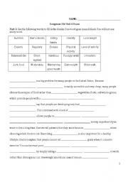 English teaching worksheets: Nutrition