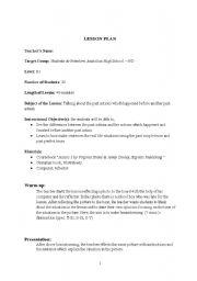 English Worksheets: lesson plan-9 Talking about the past actions which happened before another past action.