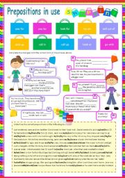 English Worksheet: Prepositions in use (1) Shopping (Fully editable)