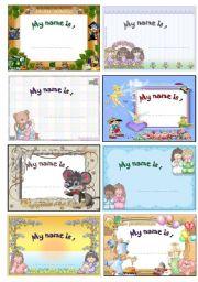 English Worksheet: Cute name tag..