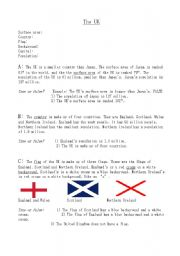English Worksheet: The UK Quiz (A)