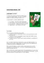 animal rights debate assessment sheet for. Black Bedroom Furniture Sets. Home Design Ideas