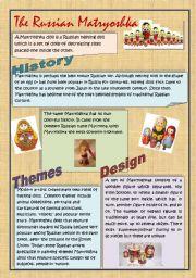 English Worksheet: The Russian Matryoshka