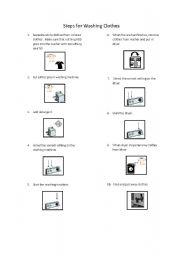 English Worksheets: Laundry Steps