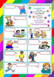 What are they saying? – written and oral review activity [3 tasks] KEYS INCLUDED ((4 pages)) ***editable