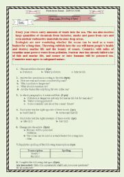 Water Pollution : a test paper for 2 AS Algerian high school, 2 pages fully editable.